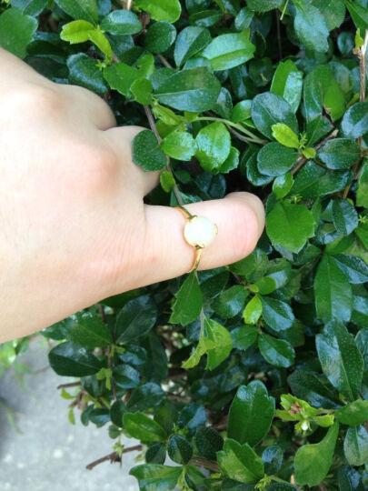 石瑾记和田玉耳钉戒指女款925银首饰套装 附证书 耳钉 晒单图