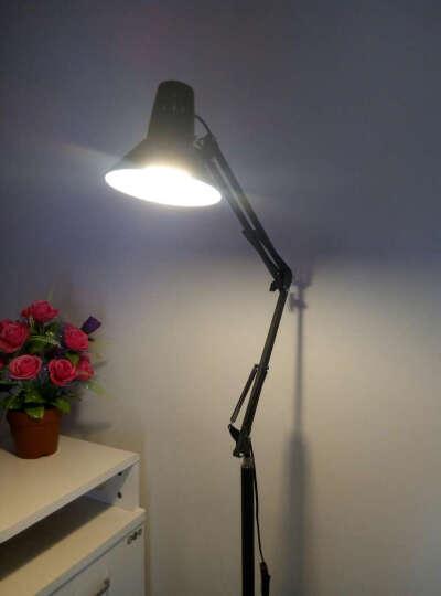 道远亮眼睛 LED落地灯 5W暖光 客厅卧室落地台灯现代简约书房工作钢琴麻将灯ML626黑色 晒单图