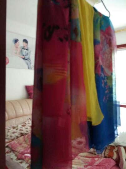 羚羊早安  春夏百搭海滩巾丝巾长款女士雪纺沙滩巾围巾披肩两用 sj606-淡黄 晒单图