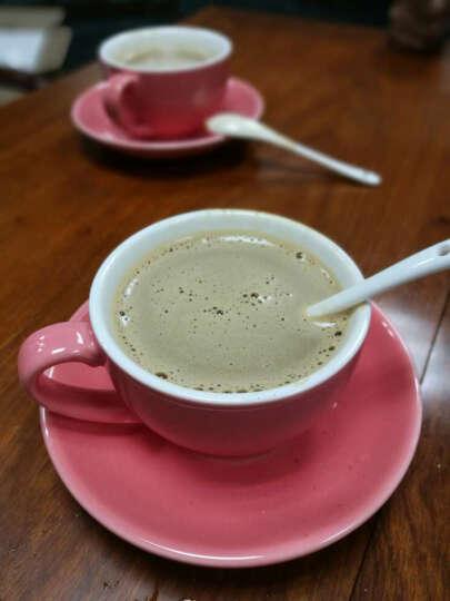 淘礼轩 咖啡杯套装陶瓷拉花杯下午茶具4杯4碟220ml B18哑光深灰 晒单图