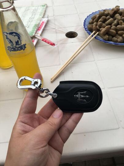 标车族 玛莎拉蒂钥匙包套真皮新总裁Ghibli古博力GTGC智能腰挂专用于玛莎拉蒂 芭比红(送指环扣) 晒单图