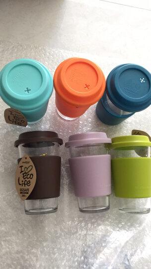 Glasslock韩国进口三光云彩耐热钢化玻璃杯子带盖花茶果汁杯牛奶杯带杯套 西瓜红 晒单图