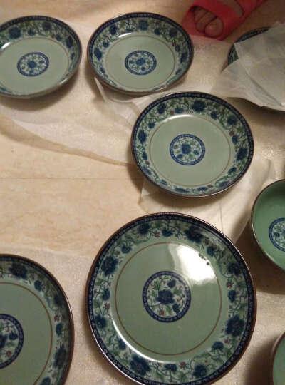 敏杨 套装盘子(4只装)陶瓷盘子菜盘家用水果盘子瓷器中式餐具 菜碟子7/8英寸盘子 8英寸花之韵(深盘) 晒单图