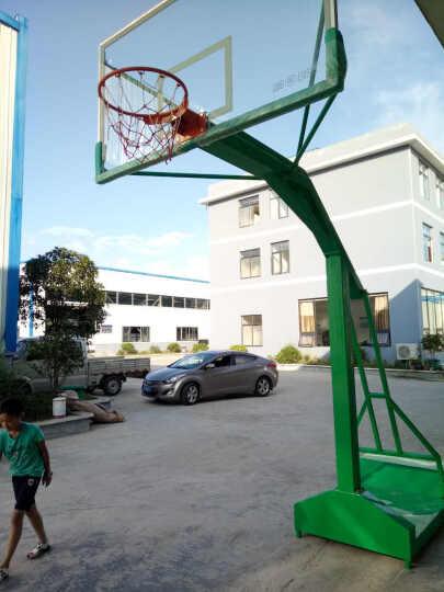 信能 户外标准可移动篮球架移动单臂篮球架  成人篮球架 包邮 地埋钢化篮球架(方管) 晒单图