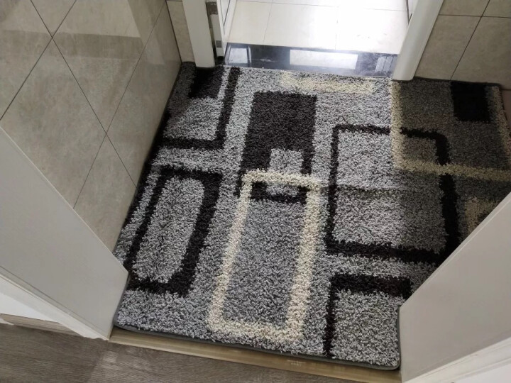 夏浪 进门地毯定制 家用入户门毯脚毯客厅地毯 厨房卫生间吸水防滑毯子可定制尺寸 红色三叶草 定制异形专拍(100元一个平方) 晒单图