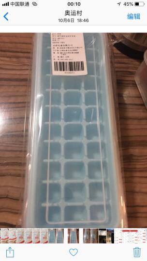 奥美优 家用创意冰格套装冰糕冰块模具 冰箱制冰盒DIY制冰器  33格带储冰盒冰铲 蓝色 AMY5051 晒单图