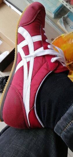 鬼塚虎 透气舒适 经典休闲鞋 男女 TRACKTRAINER D318N 复古红/白色 42.5 晒单图