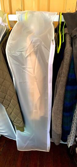 天纵衣服防尘罩挂衣袋西服罩大衣透明防尘套 立体防尘罩 加厚半透明 大号 单个:30*58.5*108cm 晒单图