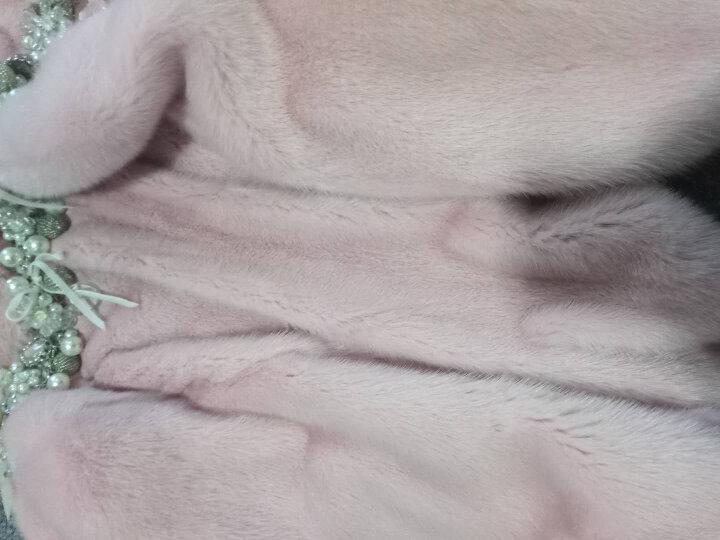 水貂皮大衣整貂皮草外套女貂毛海宁2016新款时尚短款七分袖年轻款 粉色 L 晒单图