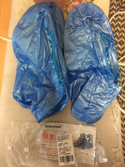 博沃尼克 防雨鞋套男女加厚底雨鞋 防水鞋套 防滑雨靴套 平底蓝色42-43 晒单图