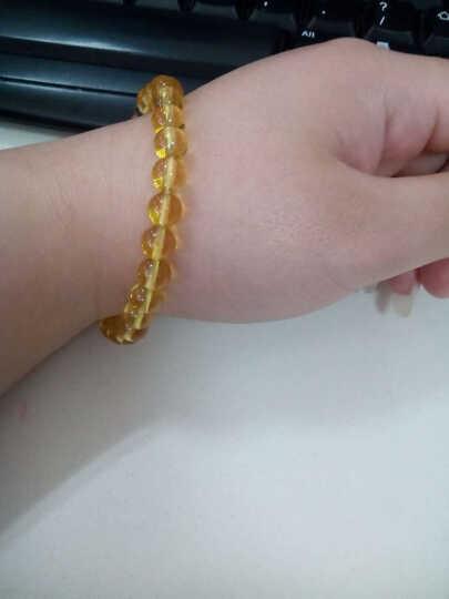 微笑天使 天然黄水晶手链佛珠手串 单圈 晒单图