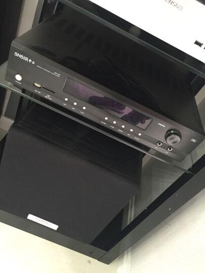 捷盛C1功放机柜黑色二三四五层烤漆钢化玻璃功放视听机架木质架子发烧音响专业调音设备器材 黑色五层一米高度 晒单图