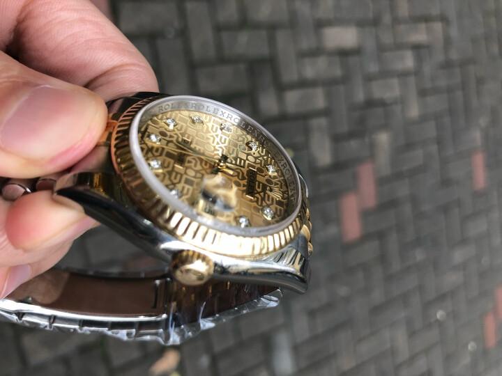 【二手95新】劳力士日志型系列116233香槟花盘镶钻男士自动机械腕表瑞士表金表 36MM-116233 36mm 晒单图