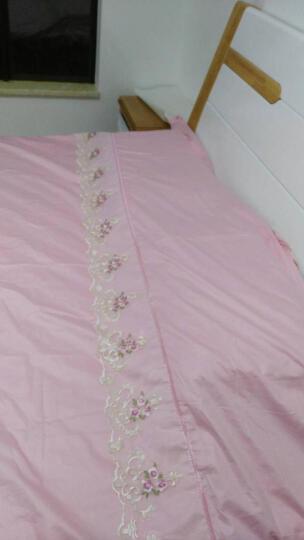梦味 韩版蕾丝公主风全棉床裙四件套纯棉绗缝夹棉加厚裙床头罩婚庆套件韩式1.5/1.8m米床上用品 宝贝-绿 1.5/1.8米床被套200*230CM四件套 晒单图