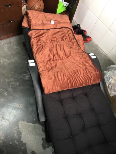 飞天 双面加大抱枕被子两用抱枕毯 办公室午休被靠垫被 温暖棕(有拉链) 大号1.5*2.1m 晒单图