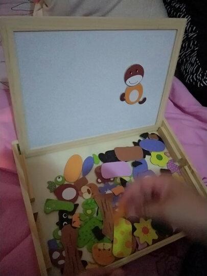 小硕士儿童双面画板磁性动物拼图积木女孩男孩宝宝开发益智玩具1-2-3--6岁幼儿园早教 交通拼拼乐 晒单图
