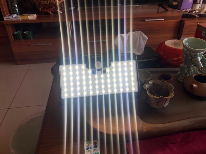 照百顺太阳能灯户外庭院灯家用防水LED壁灯路灯遥控三面发光正白光 晒单图