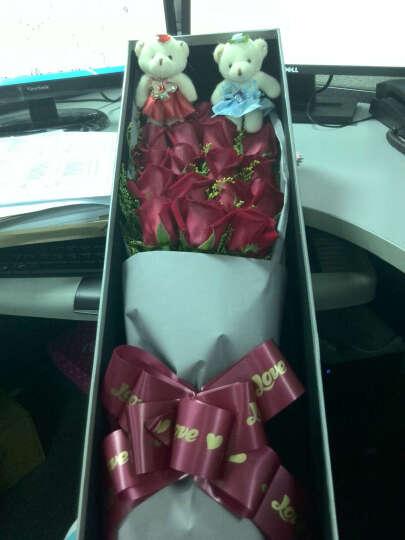 (真花)鲜花北京当天同城鲜花速递19朵红玫瑰全国同城鲜花礼盒情人节表白指日期送达花束送爱人花店 19朵红柚玫瑰花 晒单图
