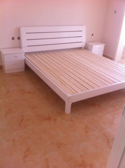雅霏-床实木床 单人床  双人床  学生床 成人床 宿舍床学生床 全白色 加长款1.2米*2米06 晒单图
