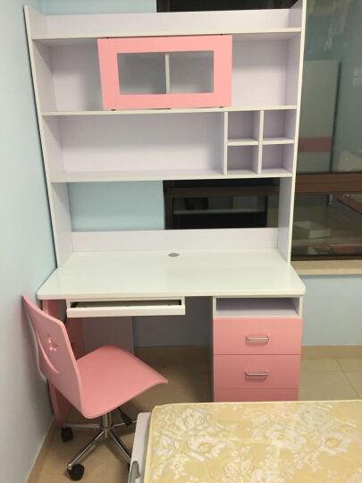 糖果屋 儿童家具5件套装组合 儿童床男孩女孩 1.35米男孩床+三门衣柜+床头柜+转角书桌+书架 晒单图