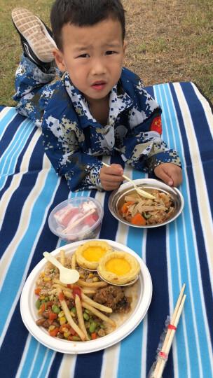红色营地 野餐垫防潮垫 户外地垫野炊春游 露营沙滩垫子草坪垫子加厚 小红格150*200 晒单图