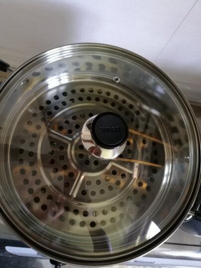 苏泊尔(SUPOR)304不锈钢双层蒸锅28cm汤锅二层蒸屉大蒸笼燃气电磁炉蒸馒头锅EZ28BS05 晒单图