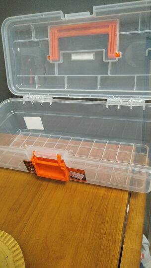 拓为(Tactix) 320104 305mm(12英寸)塑料工具箱 透明钓鱼家用多功能玩具美术画画收纳 晒单图