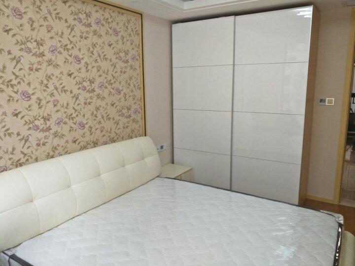 鼠米(SHUMI) 鼠米家居 定做简约现代推拉门衣柜 PAX帕克思钢琴烤漆移门衣柜定制 白色 宽度2.2米x高度2.4米衣柜 晒单图