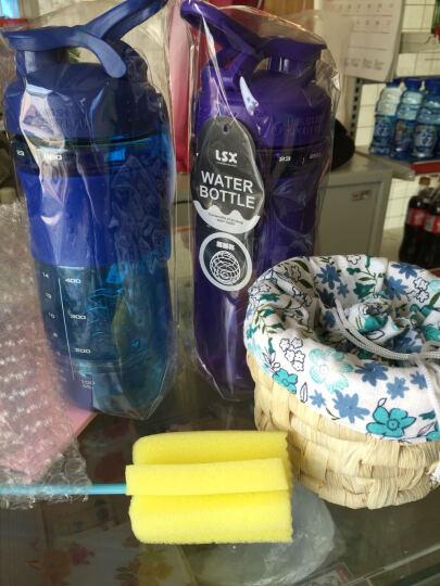 龙仕翔 防 蛋白粉摇摇杯漏塑料杯奶昔杯酵素杯健身运动水杯带刻度搅拌摇杯大容量旅行水杯 650ml三个装(可备注/颜色随机/一个绿色) 晒单图