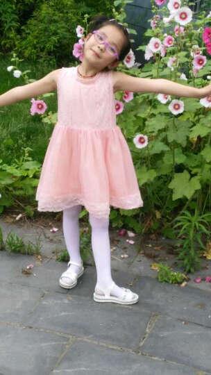 智友伴女童连裤袜春秋薄款儿童中大童舞蹈袜子小孩宝宝打底裤袜学生长筒白色丝袜 1白2粉 L码 建议身高120-160cm 晒单图