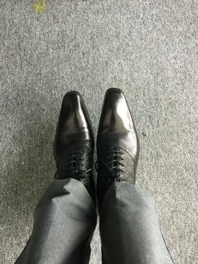 Worldcamp世界阵营 男士商务正装皮鞋头层牛皮英伦尖头男士皮鞋潮流系带透气舒适男鞋 自由棕色 41 脚型偏瘦的拍小一码 晒单图