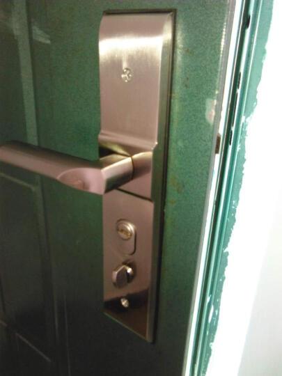 质胜 超D级叶片锁芯防盗门锁套装12把钥匙大门不锈钢拉手把手锁具 前固型圆柱+升级C级12把钥匙 上门安装请联系客服咨询费用 晒单图