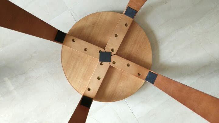 施豪特斯(SHTS) 凳子 实木圆凳板凳休闲椅子餐椅(六只)ST-9820 蜜糖色 晒单图