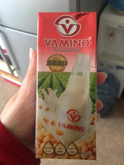 哇米诺特浓原味豆奶250ml*6盒 泰国进口vamino早餐奶饮品饮料纸盒装 晒单图