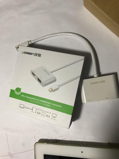 绿联(UGREEN)Mini DP转HDMI/VGA二合一转换器 Surface扩展坞雷电接口 苹果Mac电脑连接电视显示器 白 10427 晒单图