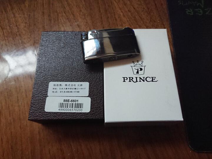 RINCE日本正版正品PRINCE王子王子砂轮气体打火机充气黑冰个性创意纤薄 88E-6601 晒单图