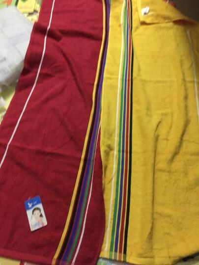 孚日家纺洁玉纯棉毛巾 加长加大加厚健身运动巾 擦汗健身巾 38*110cm 2条装(黄+红) 晒单图