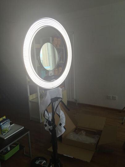 南冠CN-R640摄影环形灯LED摄像灯眼神灯美瞳 美妆 面妆彩妆人像主播直播补光灯 配单反相机支架 晒单图