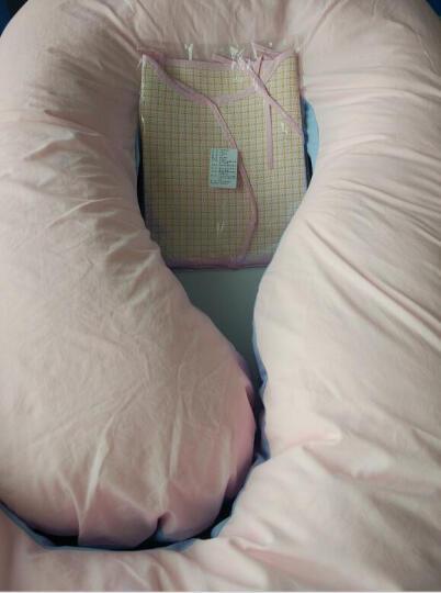 倍爱妈咪 孕妇枕头护腰侧睡枕侧卧用品孕期靠枕u型多功能托腹睡觉神器抱枕 薄荷绿色 晒单图