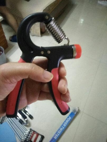 蒙拓嘉 握力器可调节专业手指训练A型指力器腕力器家用办公男士女士健身器材 灰蓝单只装10-40千克 晒单图