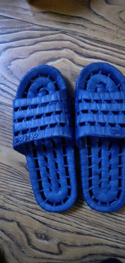 和居家 镂空浴室凉拖鞋防滑室内软底舒适男女情侣塑料耐磨酒店拖鞋 浴室深蓝色 42/43(适合41-42) 晒单图