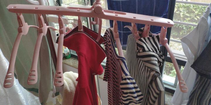 晟旎尚品 衣架 多功能晾衣架 可折叠衣撑 多层衣架子 挂衣架 魔术衣架 一件八夹1只装 晒单图