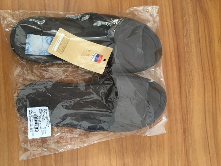 【颜色尺寸随机】富安娜家纺 家居拖鞋塑料可冲凉家居鞋 格调生活 咖色(265) 晒单图