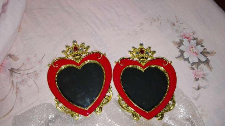 麦达令婚庆用品结婚镜子新娘化妆镜子红色上头镜 新人用品红镜子 爱心款 晒单图