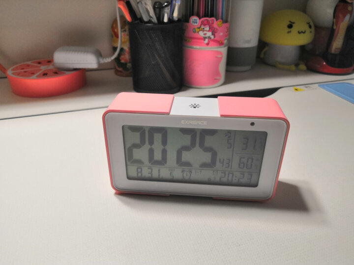 易克赛思 (EXASACE)闹钟 德国原创 音乐闹钟 静音夜光创意学生电子钟卧室床头座钟儿童智能钟 风尚版-靛青色(电池单供电) 晒单图