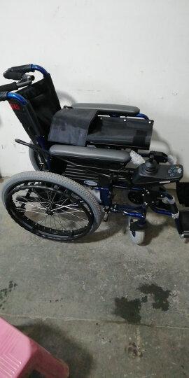 互邦(Hubang)互邦轮椅 加强铝合金手动轮椅HBL9-B 老人充气胎轻便折叠代步车 轮椅车 附带餐桌板 晒单图