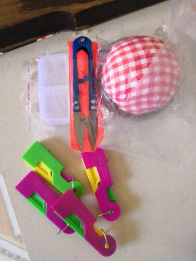 三爱 彩色剪刀 家居DIY缝纫工具 U型剪刀 十字绣剪 刀纱剪 线头剪 随机发色一把 晒单图