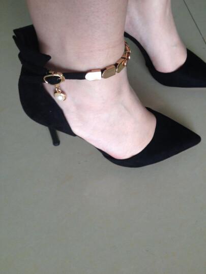 莱卡金顿高跟鞋女2017秋季新款时尚细跟性感高跟女靴气质通勤OL尖头女鞋 HL633K6黑色 36 晒单图
