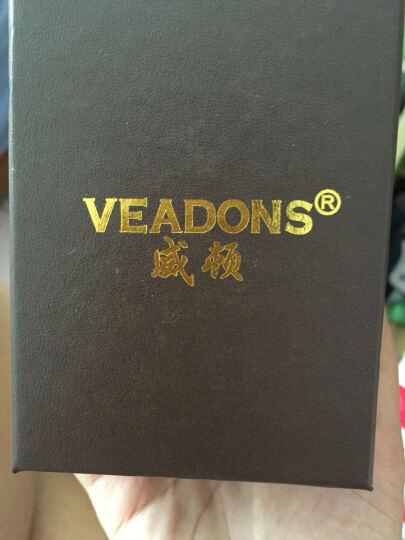 威顿(VEADONS)手表 女 皮带女表 超薄防水石英 女士手表 学生情侣男士手表一对 钟表 5051黑面黑带/女表 女表 晒单图