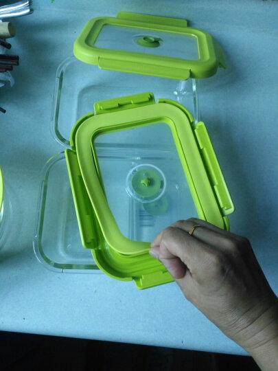 苏泊尔(SUPOR) 玻璃饭盒 微波炉碗保鲜盒密封带盖分格长方形圆形便当盒套装 长方形 330mL 晒单图